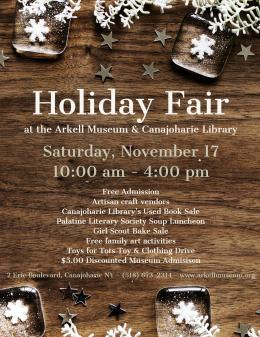 Holiday Art And Craft Fair Arkell Museum